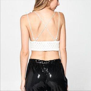 Hummingbird Intimates & Sleepwear - Strappy White Lace Bralette/Soft Bra